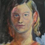 selbstportrait 40x30cm acryl auf nessel 2017