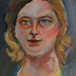 selbstportrait 40x30cm 2017 acryl auf nessel
