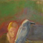 stilleben mit vogel 75x90cm eitempera auf nessel 2007