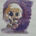 totenkopf aquarell